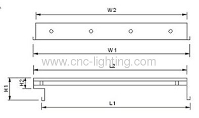 T8 Prismatic diffuser light fittings