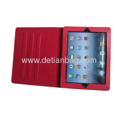 Leather smart case for ipad2 and new ipad