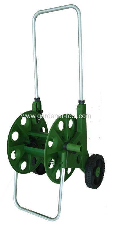 Plastic Garden Hose Reel Cart With Capacity 60M 13MM PVC Garden Hose
