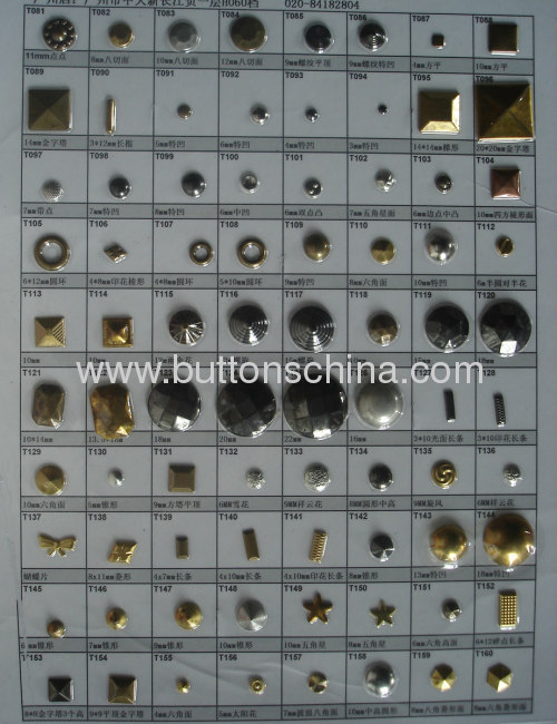 Dome metal hot fix studs