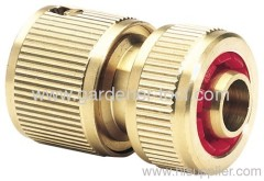 "5/8""Brass Hose Quick Connector With Waterstop"