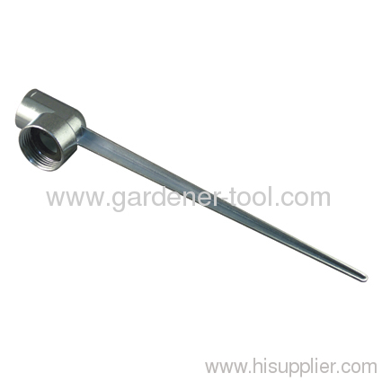 Metal one way garden sprinkler spike