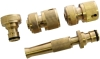 "4"" brass hose nozzle set include brass nozzle and connectors"