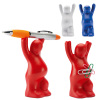 Promotional antistress PU pregnant shape pen holder with magnet