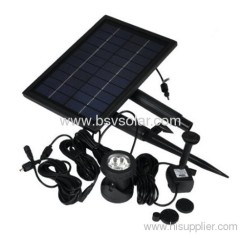 Solar Fountain Pump with LED light