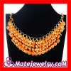 Costume Jewellery Candy Orange Chunky Bubblegum Necklace Wholesale