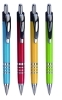 Plastic promotional ballpoint pen with double clip