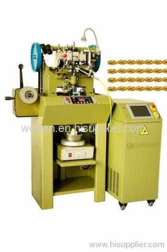 gold rope chain making machine gold jewelry chain machine welding