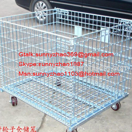 Stackable wire basket for industry