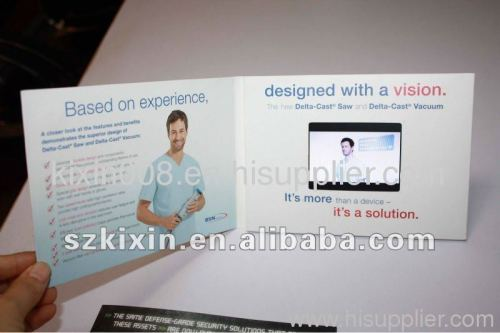 3.5 inch Video greeting card,video greeting brochure,video greeting booklet
