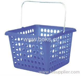 plastic storage basket with handle