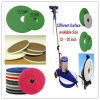 Floor pad melamine foam with scouring pad