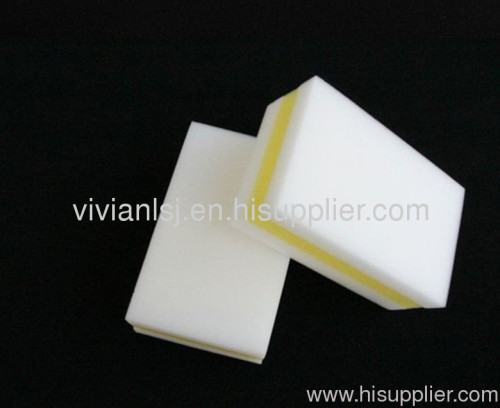 Compressed melamine foam with sponge,cleaning sponge