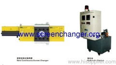 New continuous screen chnger for plastic extrusion machine