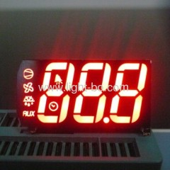 Super Red 3 digit 7 segment led display for refrigeration indicator