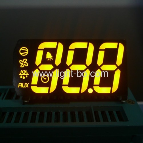 Customized 3-Digit Super bright amber 7-Segment LED Display for cooling application