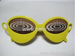 yellow frame plastic sunglasses