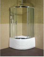 Quadrant wet shower cubicle