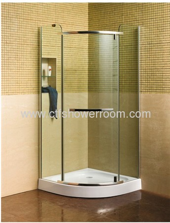 Front 8mm clear tempered glass shower room enclosure