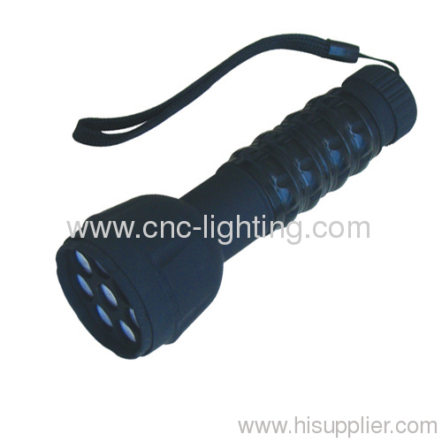 8 LEDs shockproof plastic LED torch
