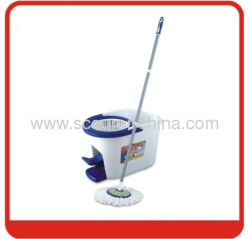 Eco-Friendly Foldable Tornado mop with blue and white color