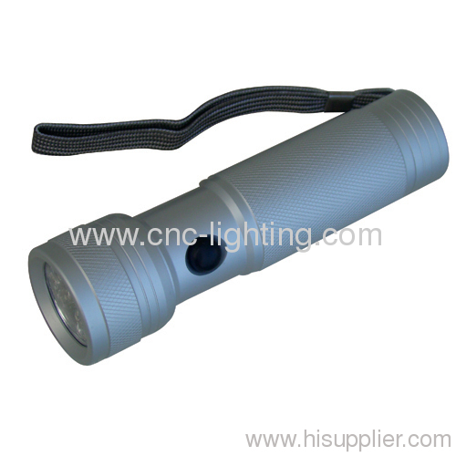 Aluminium LED flashlight with12 leds