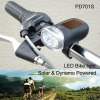 Solar Dynamo powered LED bike light