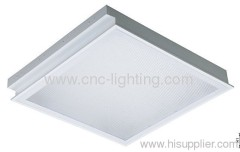T8 Fluorescent Light Fixture with Grille, Grid & Reflector