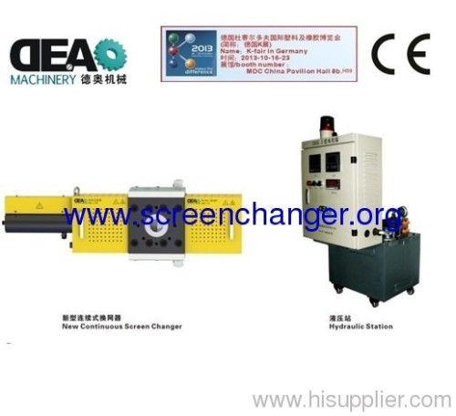 new continuous screen changer for foaming extrusion plastic machine