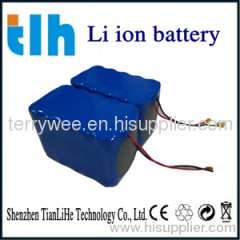 3S5P high quality 12V 10AH lithium battery packs for LED light