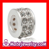 China Wholesale 925 Ale Sterling Silver Big Hole Crystal Spacer Beads