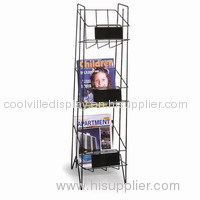 3 Shelves Wire Magazine Display Rack