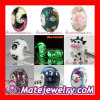 designer cute european Silver core Lampwork glass beads in bulk on sale