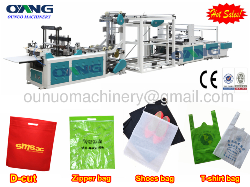 ONL-D700 Full automatic non woven T-shirt bag making machine price