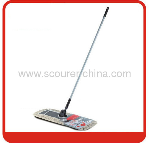 Steel Pole Professional Lobby flat mop black white Color