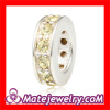 european style jewellery Crystal silver spacer beads for bracelets