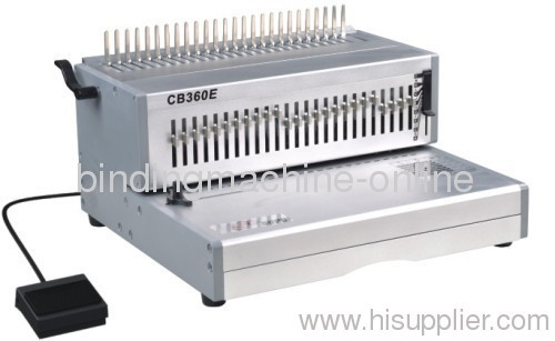 Electric 14inch office book comb binder machinery