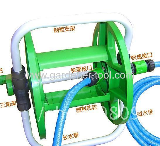 Plastic Water Hose Reel With Capacity for 45M 13MM PVC Garden Hose Reel