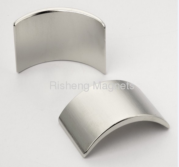Sintered Neodymium segment magnet / Super strong permanent Neodymium Arc magnet with Ni-Cu-Ni, Black Epoxy Coating......
