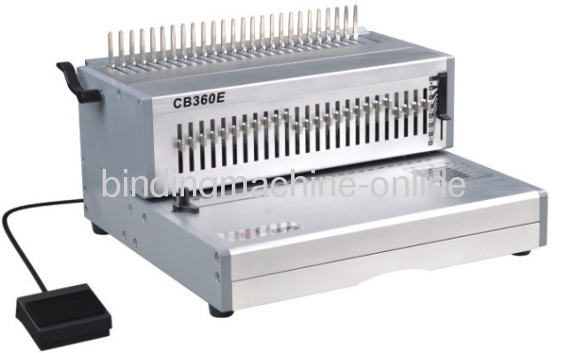 14 inch Paper Size Electric Comb Binding Machine