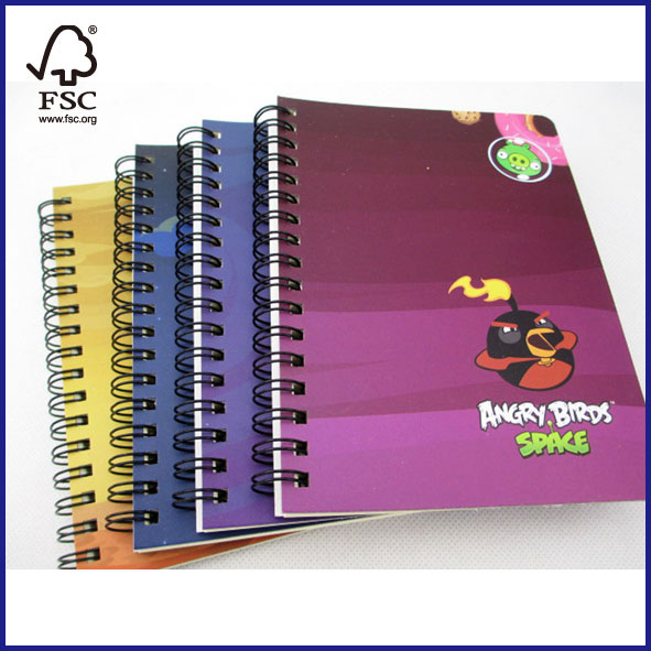 Angry Birds subject spiralnotebook