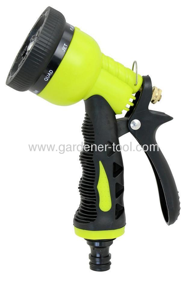 8-Pattern Plastic Trigger Nozzle With Double Color Grip and Soft Coat On The Grip