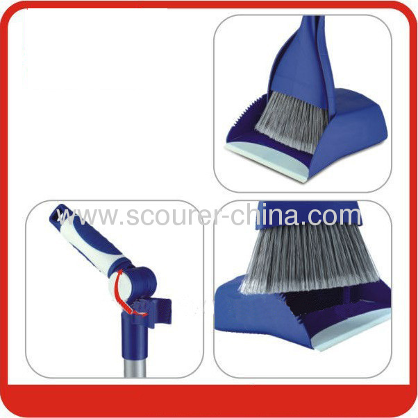 Hot sell folding dustpan and broom set