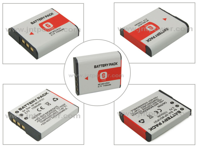 3.7V 1100mah Camera Battery for Sony NP-BG1 NP-FG1