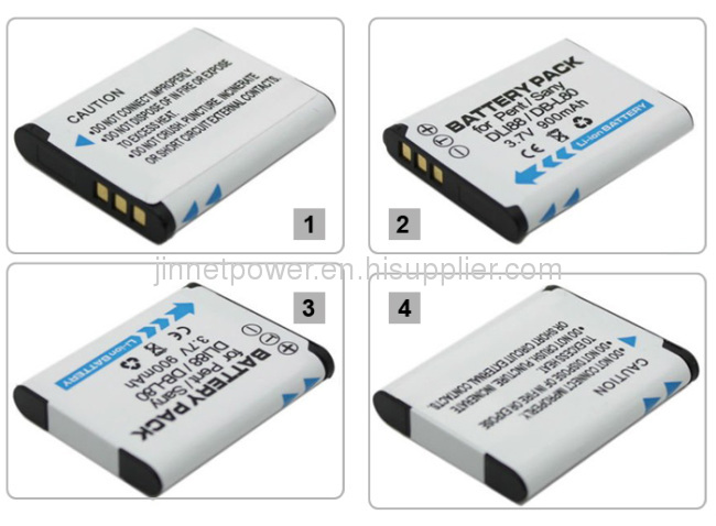 Replacement Battery For Pentax D-Li88 Optio W90 P80 WS80 P70 DB-L80