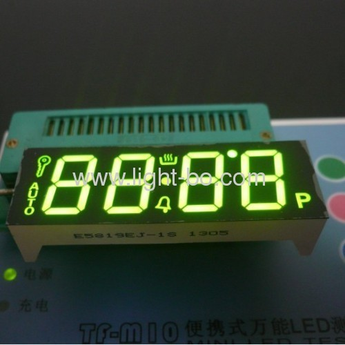 Customized 4-Digit Green 7-Segment LED Display for Oven Timer Control