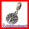 Topaz crystal stone Tree of Life antique silver european Charm And Pendant