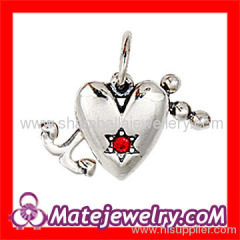 Designer jewelry accessories sterling silver Heart anchor Charms to make jewelry