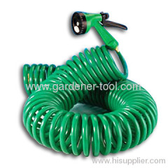 15M EVA Garden Coil Hose With Brass Connector