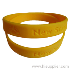 custom logo debossed/embossed/silk screen/heat transfer silicone rubber wristband